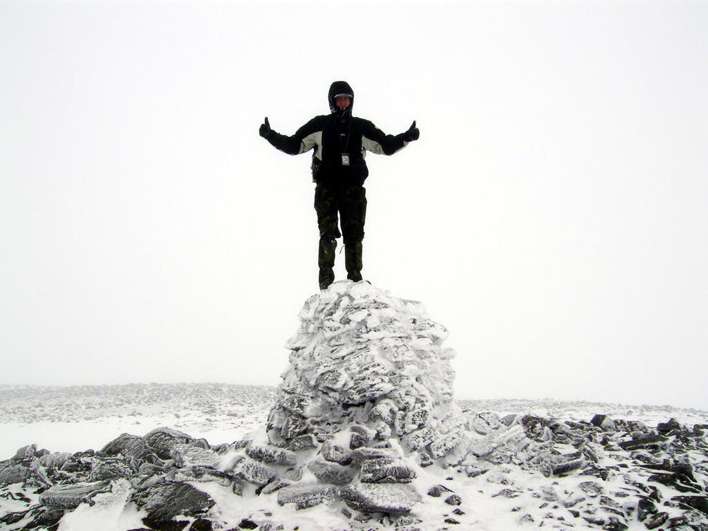 Cairn of Claise and me on its cairn
