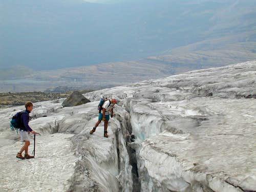Blackfoot glacier traverse