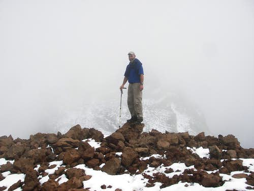 Jerry on the Summit, Cerro Soraccoto in the Background