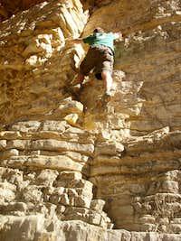 Climbing Devil's Hall
