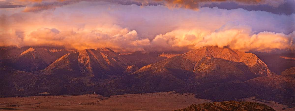 Spread Eagle Peak Sunrise panorama