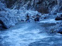 Prospectors crossing River