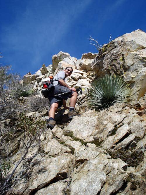 3rd class rock nearing summit ridge