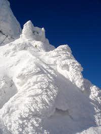 Snow forms on Kozia Pass (2153m)