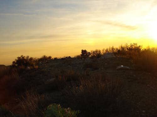 Sunset at Helicopter Landing Pad - Iron Mnt Trail