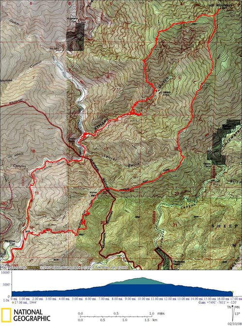 Iron Mnt ROute Topo Map