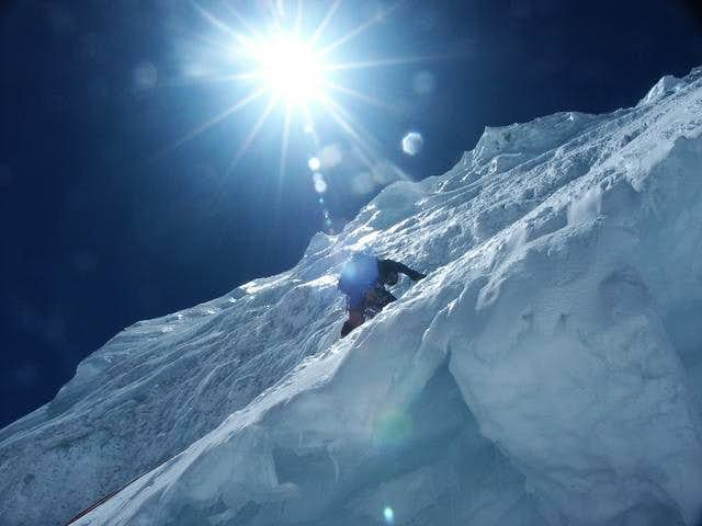 Climbing in the westface of...
