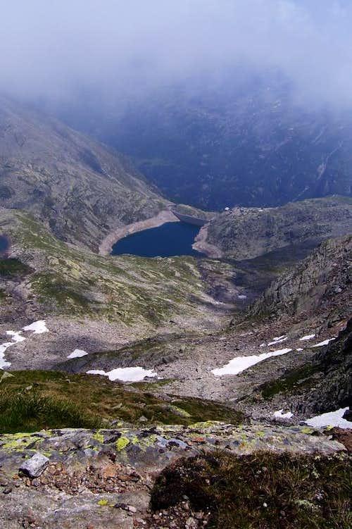 Cingino from Antrona Pass.