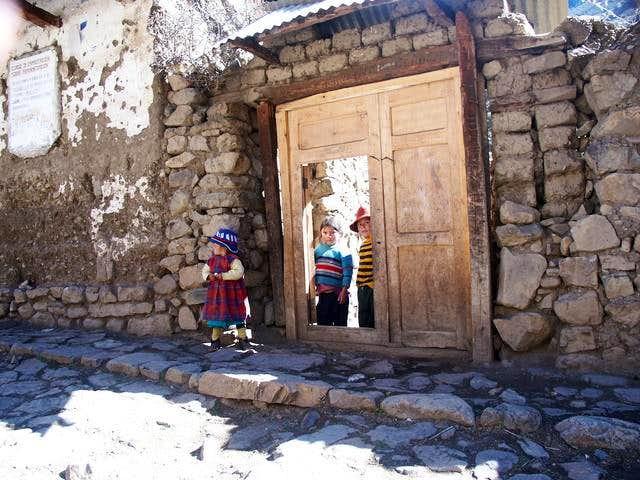Children at Yamac village