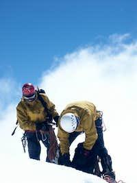 On the summit of Artesonraju