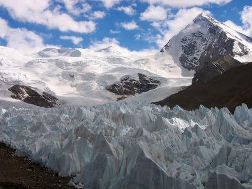 Shisha Pangma northwest glacier