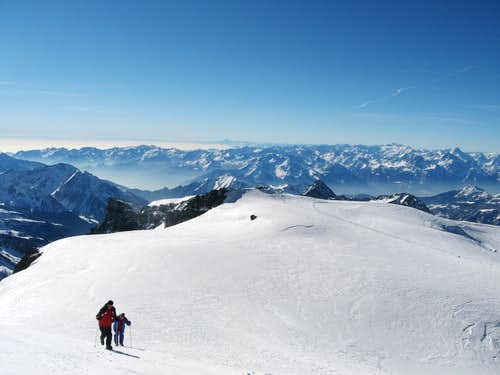 On the normal way of the Breithorn