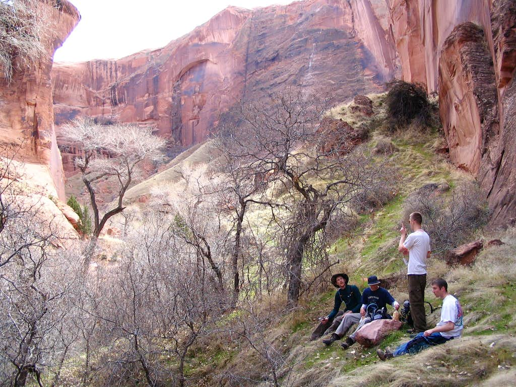 Lunch in Coyote Gulch