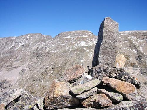 The summit cairn of Cooper...