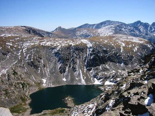 Island Lake from Cooper Peak....