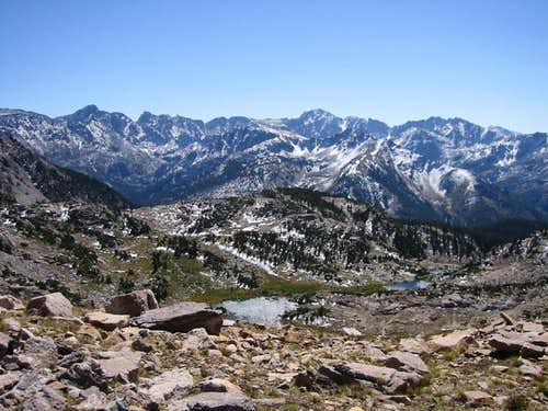 The Indian Peaks from the...