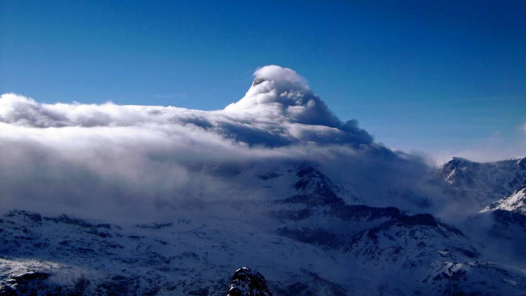 Matterhorn captured by clouds