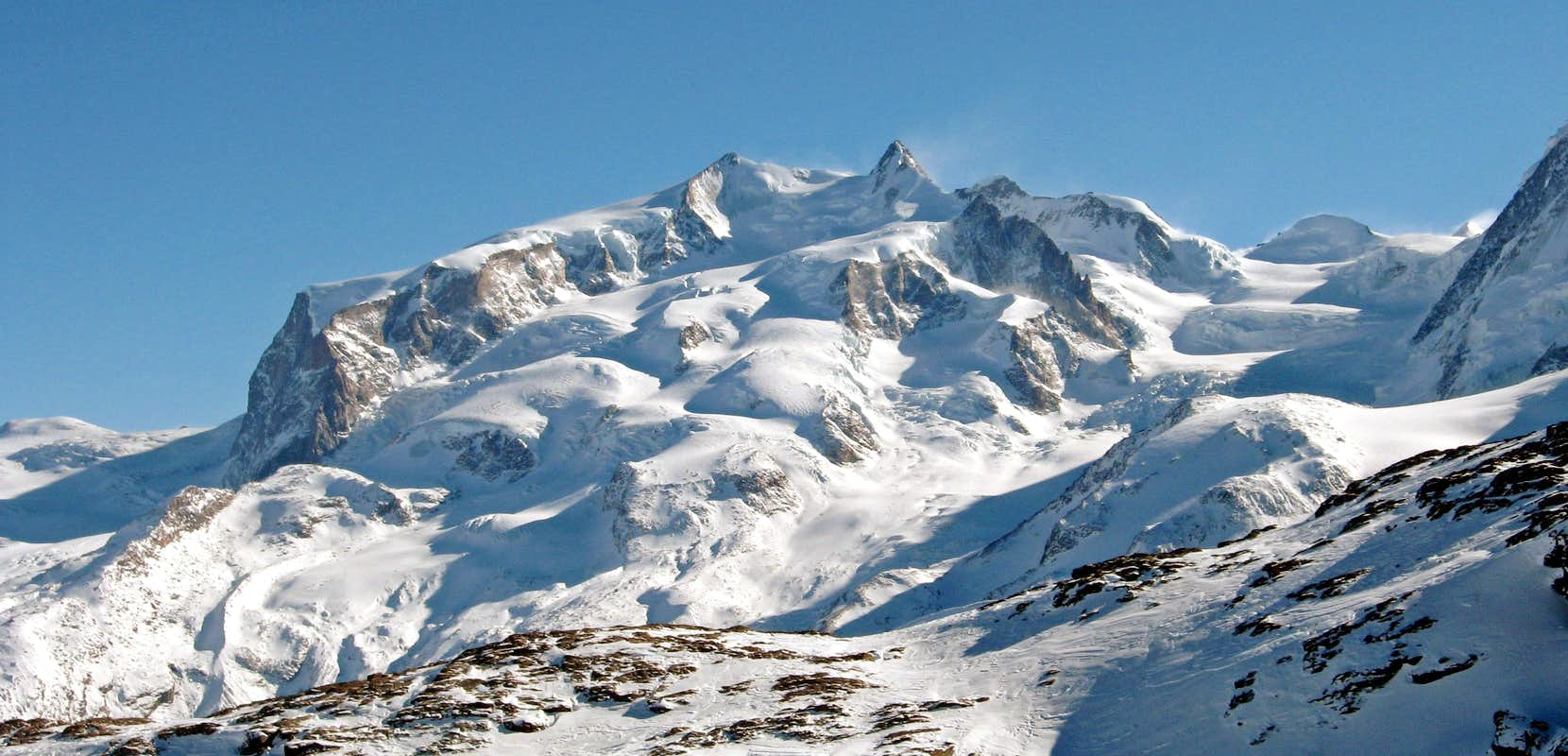 The Monte Rosa group in winter