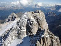 view from the summit of Marmolada - Punta di Penia