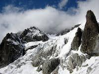 Massif Mont Blanc from Miage glacier