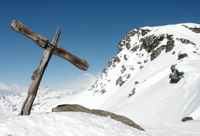 Summit and Cross of Pointe de...