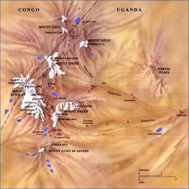 Rwenzori Map