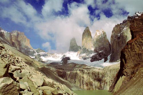 Torres del Paine from Torres...
