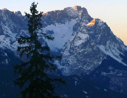 The Zugspitze from Wank
