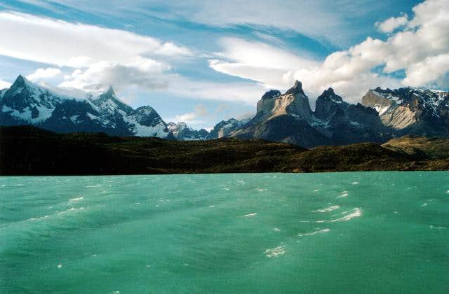 The nearby Cuernos in the...