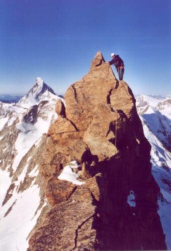 Climbing at the south- ridge