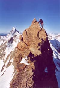 Climbing at the south- ridge