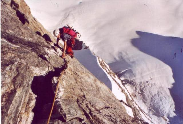 Climbing at the great...