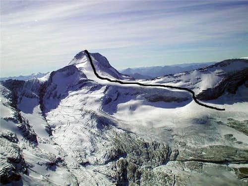 Blackfoot Glacier Main Route