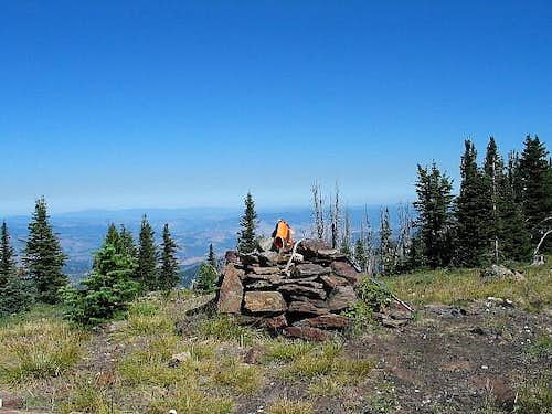 Summit cairn of Copper Butte