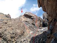 Rocks to summit