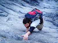 climbing the
