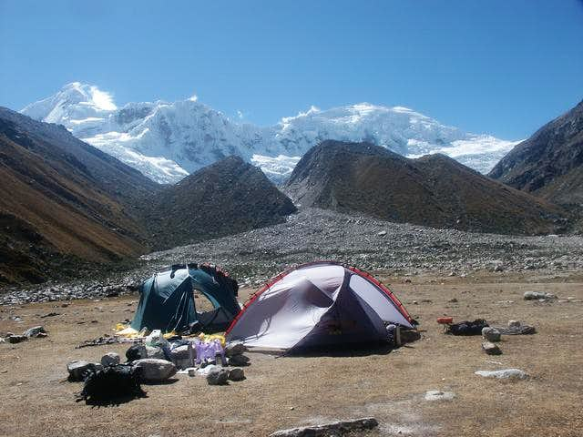 Basecamp at the end of the...