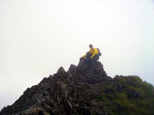 Crib Goch Summit Rocks 923metres
