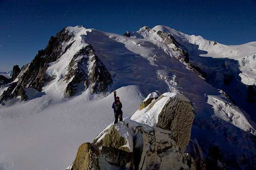 Vallee Blanche Full Moon descent