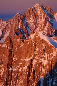 The Verte and Drus in the evening light