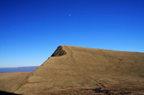 Cribyn in the afternoon sun