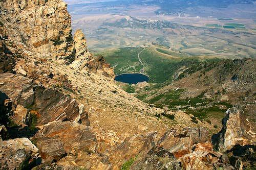 Angel Lake view during Greys Peak ascent