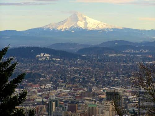 Mt. Hood over Portland from...