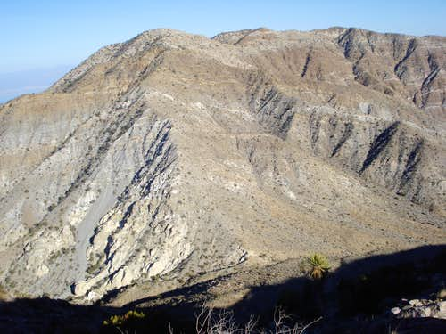 View of ridge to Rosa Point