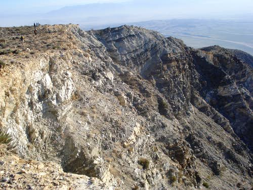 Rugged terrain on descent from Villager Peak
