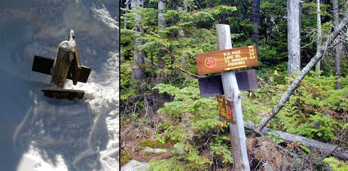 Elk Lake Trail Sign Comparison