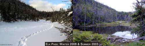 Elk Lake Pass Beaver Pond Comparison