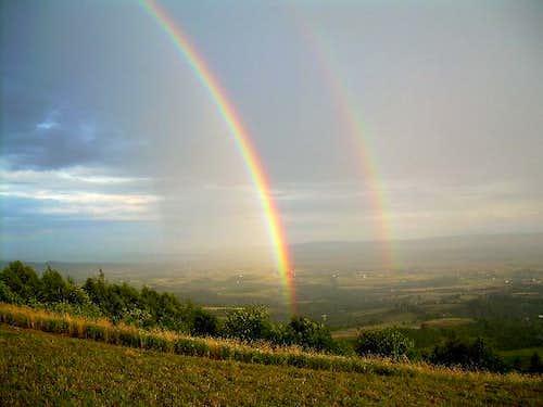 Rainbow in the Low Beskid