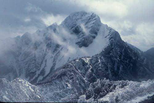 Yun Shan Main Peak (3952m),taken from the North Ridge