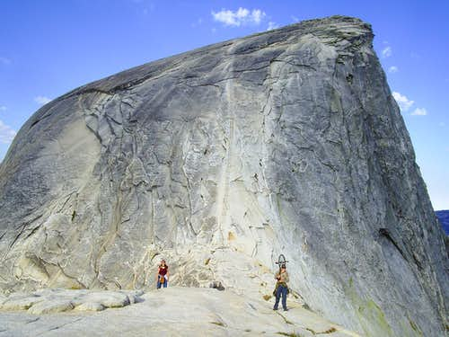 Last ascent before the summit of Half Dome